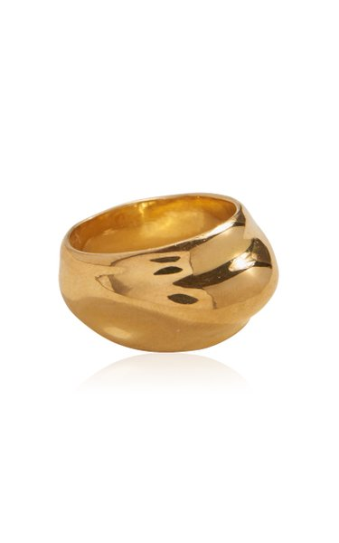 Dome 14K Gold-Plated Ring