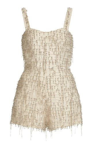 Briar Beaded Crepe Romper