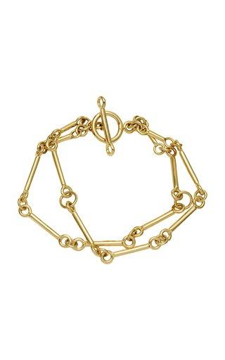 Signature Chain Charm 18K Yellow Gold Bracelet