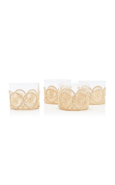 Small Straw Holder and Glasses Set
