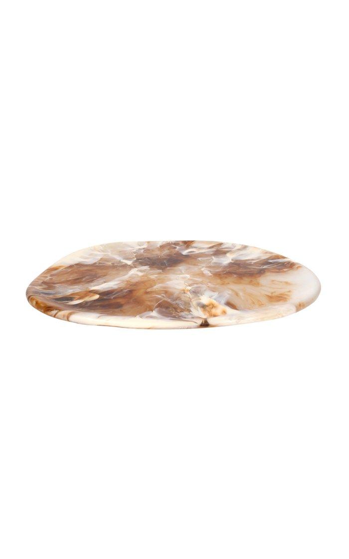 Large Brown Resin Stone Platter