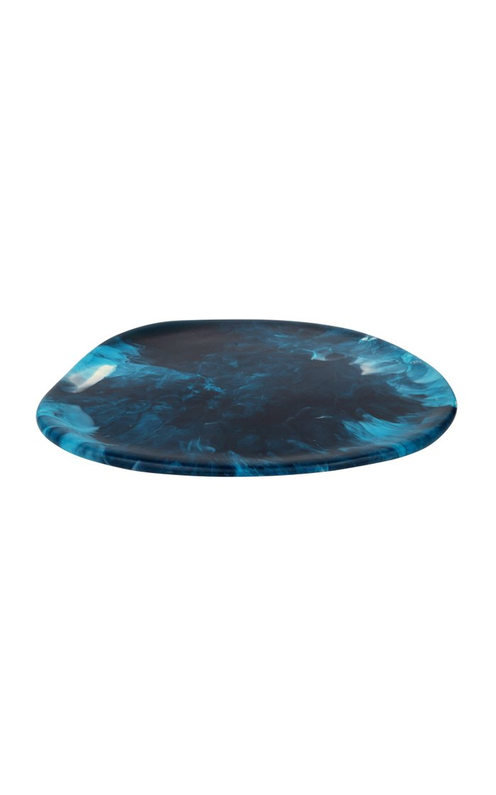 Large Blue Resin Stone Platter