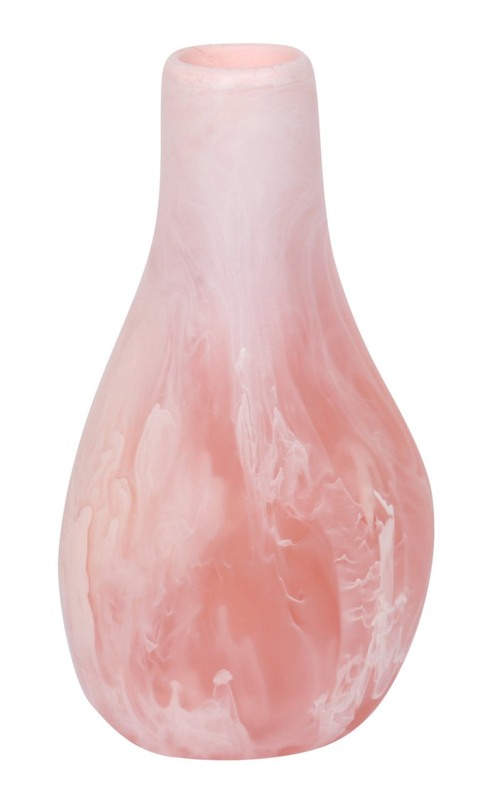 Medium Liquid Pink Marbled Resin Vase