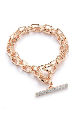 Walters Faith Saxon 18k Rose Gold And Diamond Bracelet In Pink