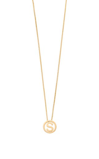 14K Yellow Gold Small Alphabet Circus Necklace