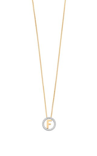 14K Yellow Gold and Diamond Small Alphabet Circus Necklace
