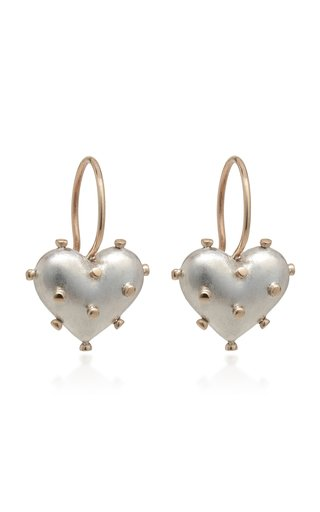 Lovesick Sterling Silver And 14K Yellow Gold Earrings