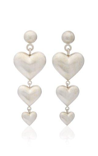 Triple Heart Sterling Silver Earrings