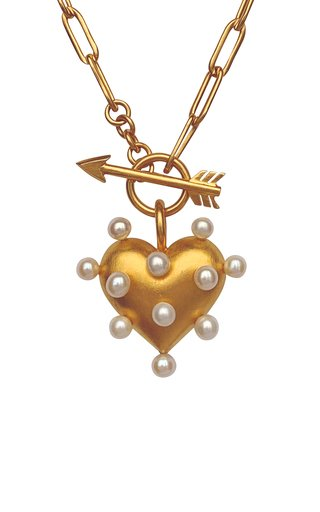 Pin Cushion Pearl 18K Gold Vermeil Necklace
