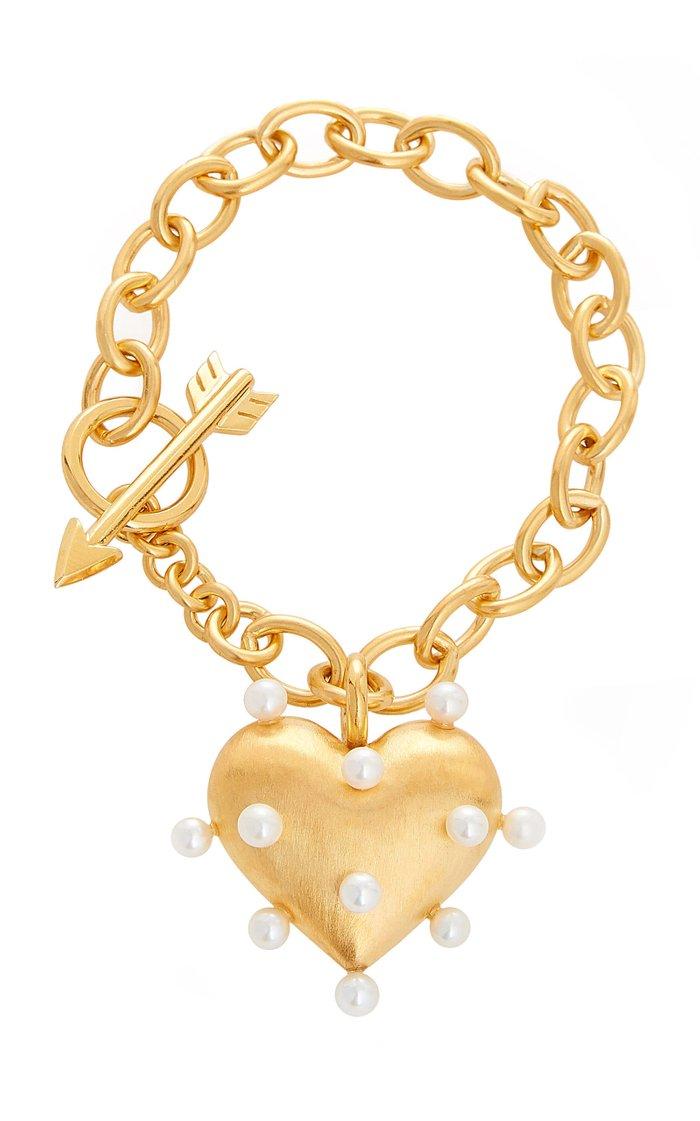 Pin Cushion Pearl 18K Gold Vermeil Bracelet