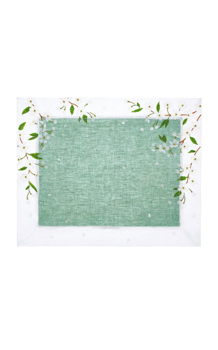 Izumi Painted Linen Placemat And Napkin Set