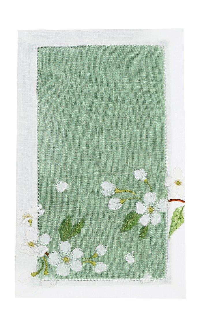 Izumi Set-Of-Four Painted Linen Cocktail Napkins