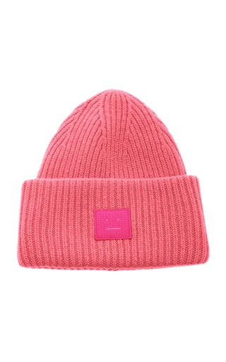 Pansy GD Face Ribbed Wool Beanie
