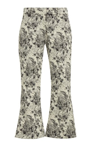 Albert Cropped Jacquard Pants