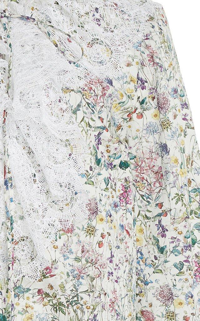 Meg Printed Cotton Blouse