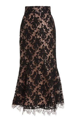 Marghera Embellished Lace Skirt