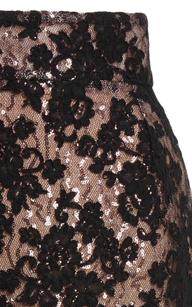 Marghera Embellished Lace Skirt