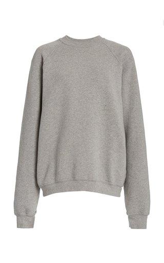 Classic Raglan-Sleeve Cotton Sweatshirt