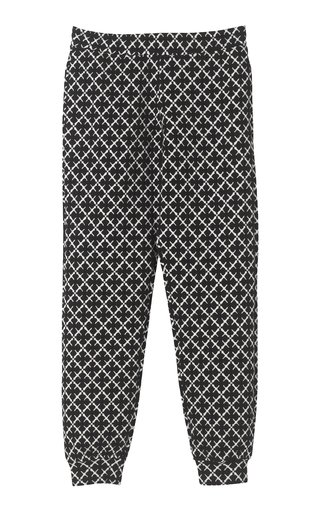 Miano Cotton-Blend Jacquard Drawstring Sweatpants
