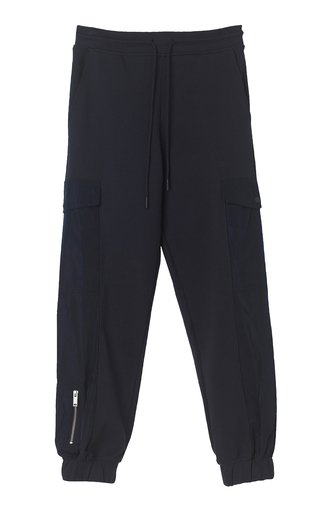 Maxwell Nylon-Trimmed Cotton Jersey Jogger Pants