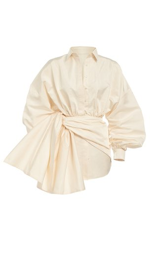 Silk Bow Mini Dress