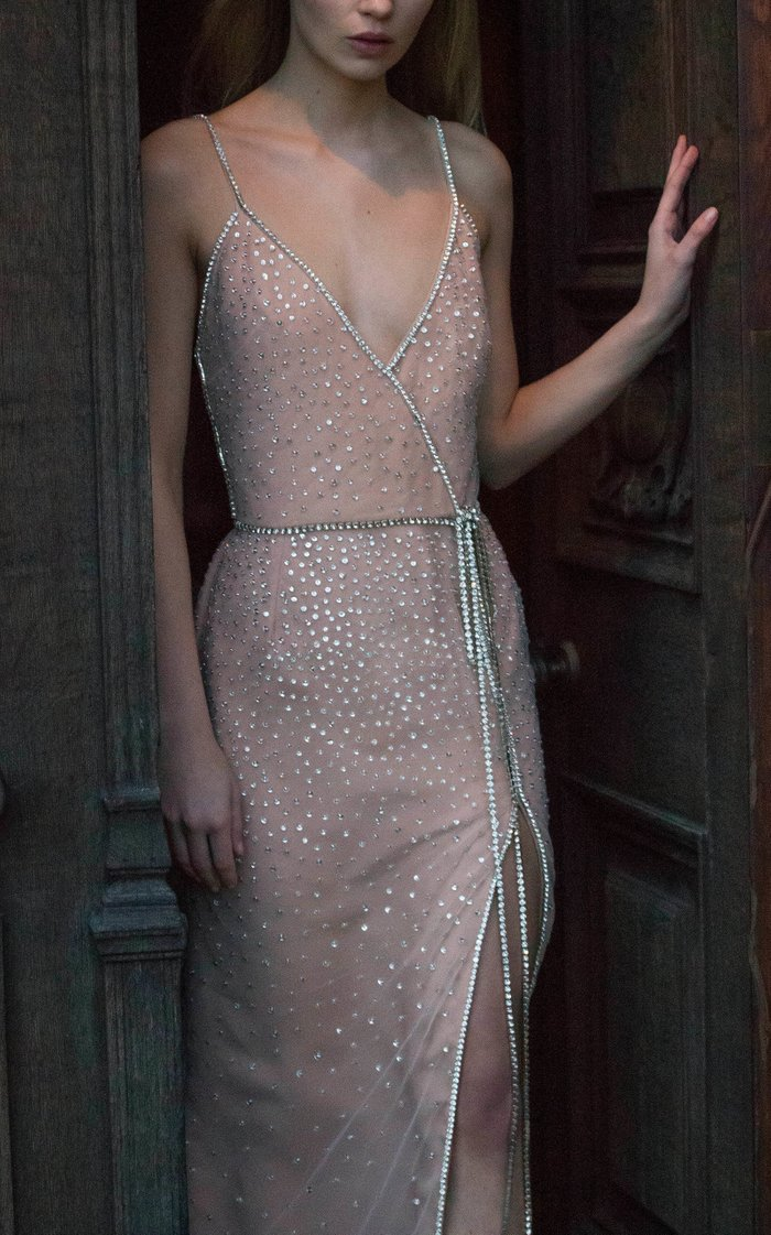 Crystal Bow Tie Gown