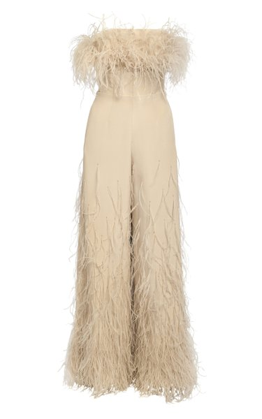 Silk Feather Jumpsuit