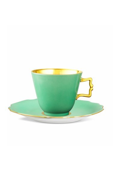 Belvedere Light Green Coffee/Tea Cup With Gold Inside