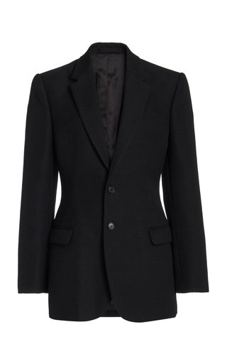 Contoured Wool Blazer
