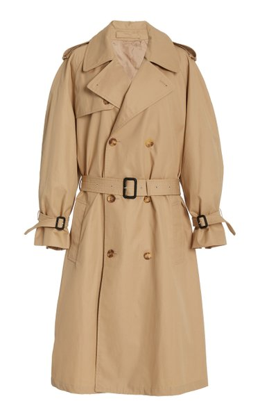 Cotton Gabardine Double-Breasted Trench Coat
