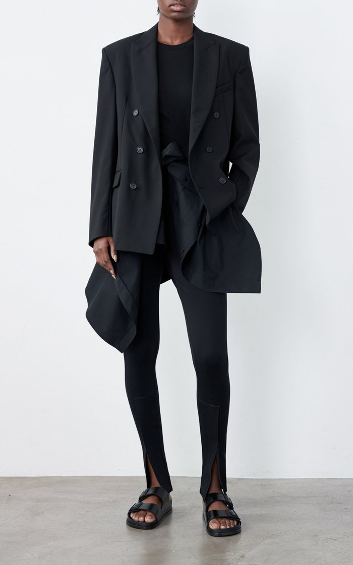 Front-Split Jersey Leggings