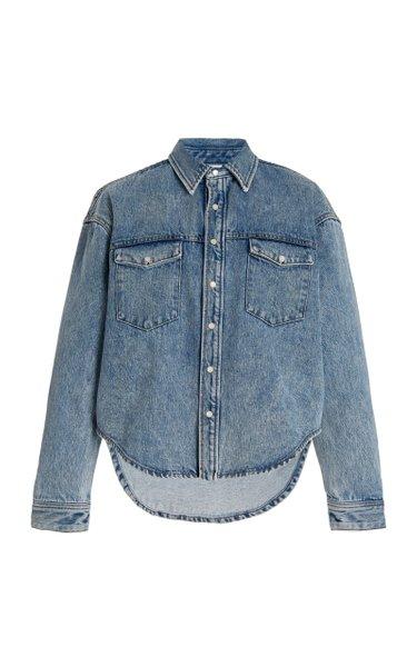 Oversized Denim Shirt Jacket
