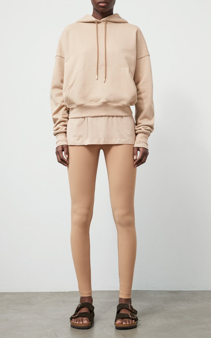 Oversized Cropped Cotton Hoodie