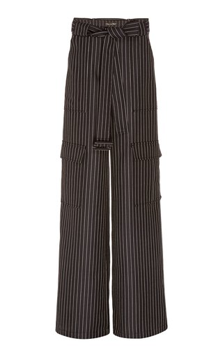 SpecialOrder-Striped Wool-Blend Cargo Pants-AE