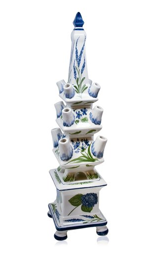 Flower Painted Ceramic Tulipière
