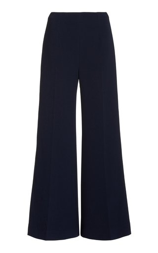 Hullinie Stretch-Crepe Wide-Leg Trousers