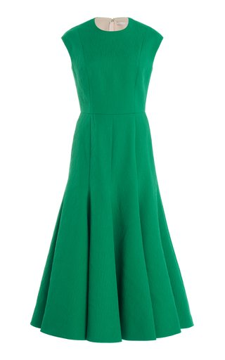 Denver Textured Crepe Midi Dress