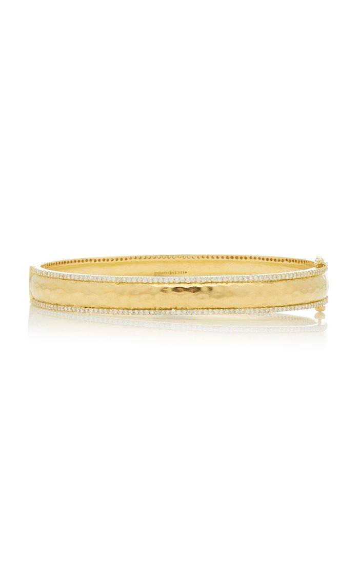 Chandni 18K Yellow-Gold Hinged Bangle
