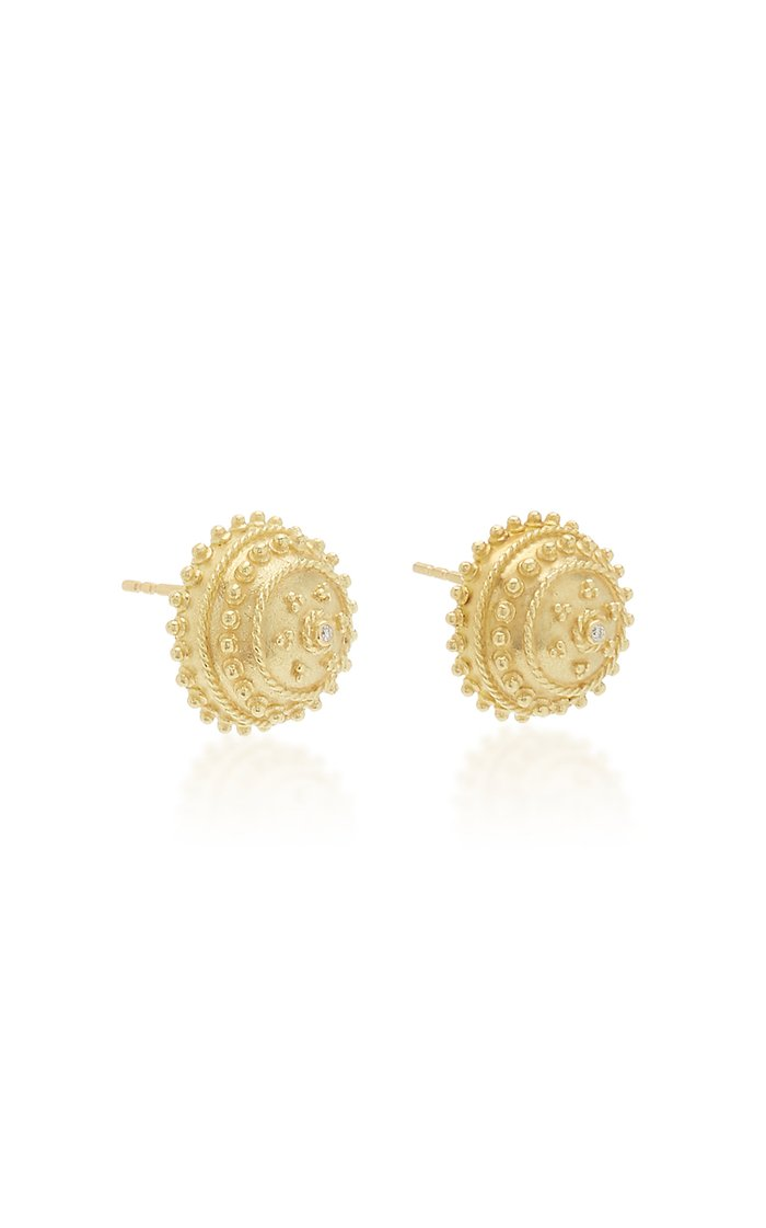 Heritage Orb 18K Yellow Gold And Diamond Stud Earrings
