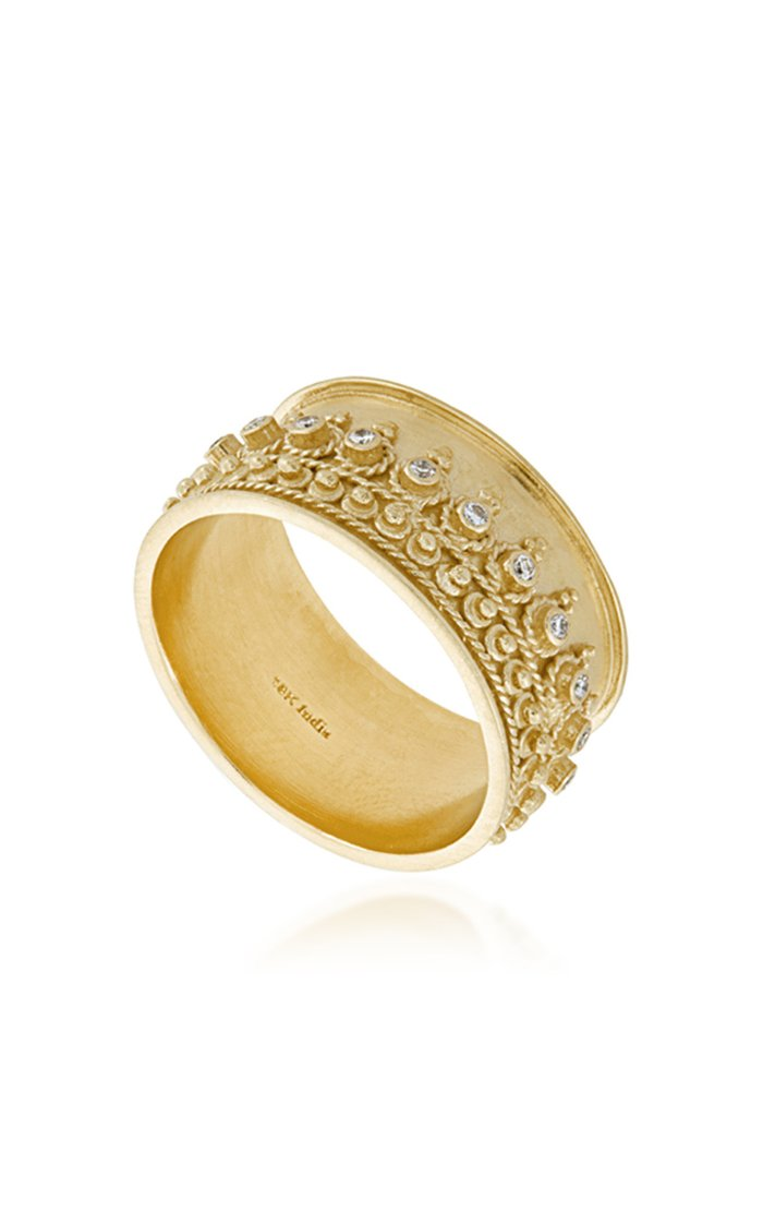 Heritage Moon 18K Yellow Gold And Diamond Ring