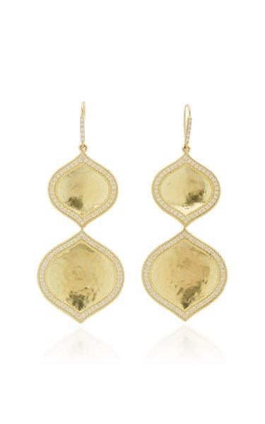 Double Pallavi 18k Yellow-Gold and Diamond Drop Earrings