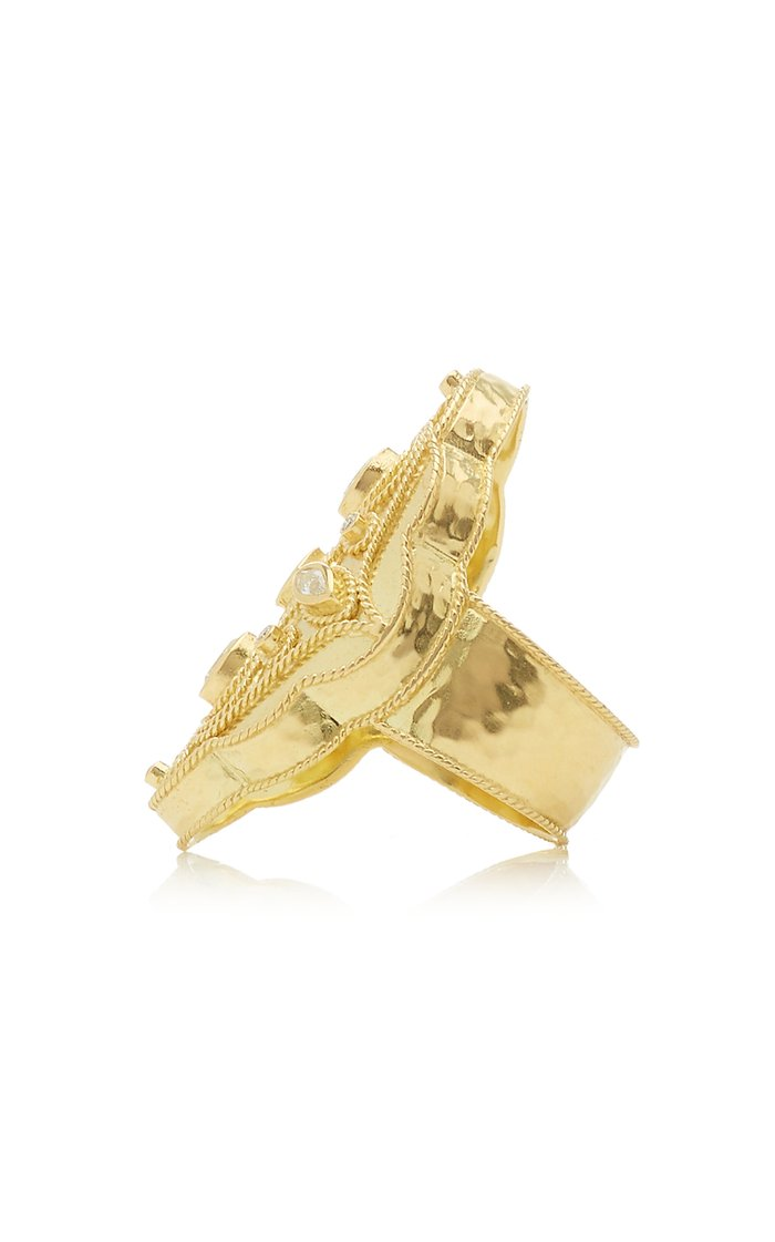 Priya 18k Yellow-Gold and Diamond Marquis Ring