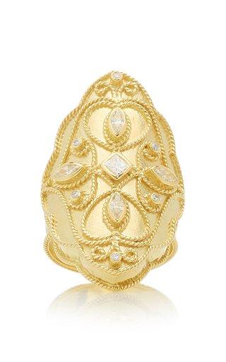 Priya 18k Yellow-Gold and Diamond Marquis Ring