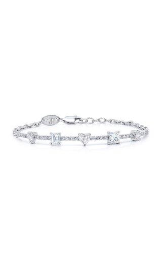 Fancy Cut Diamond 18K White Gold Bracelet