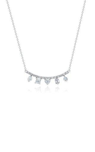 Clarity Fancy Cut Diamond 18K White Gold Necklace