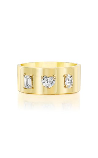 Fancy Cut Diamond 18K Yellow Gold Ring