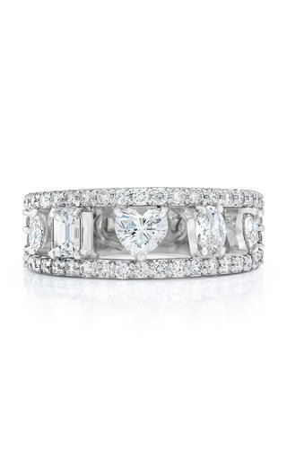 Fancy Cut Diamond 18K White Gold Ring