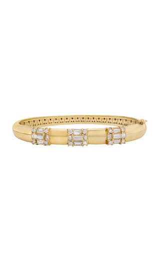 Clarity Diamond Diamond 18K Yellow Gold Bangle