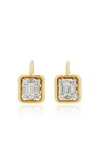 Clarity Gold-Framed Drop Earrings