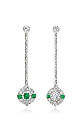Emerald Diamond Mismatch Earrings